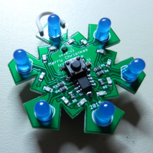 Светодинамическая игрушка снежинка на Attiny13