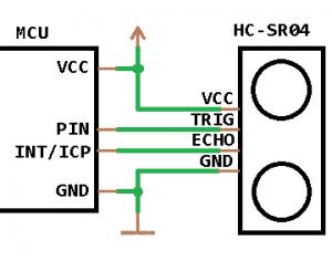 Подключение HC-SR04 к микроконтроллеру Attiny